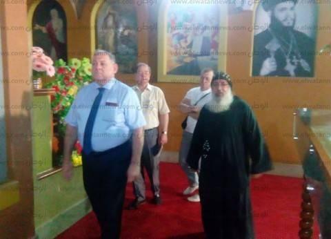بالصور| رئيس جامعة روسية يزور دير السيدة العذراء بدرنكة