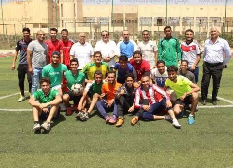رئيس جامعة طنطا يطلق إشارة بدء دوري الأُسر لكرة القدم
