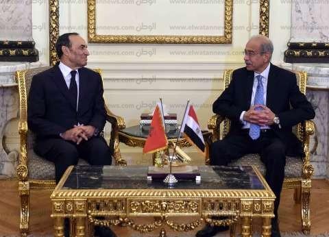 بالصور| رئيس الوزراء يستقبل رئيس مجلس النواب المغربي