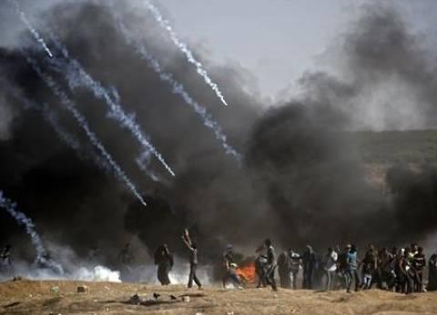 إصابة 376 فلسطينيا برصاص الاحتلال الإسرائيلي على حدود غزة