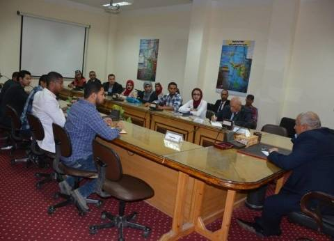 محافظ الوادي الجديد يلتقي أعضاء المجلس الاستشاري من الشباب