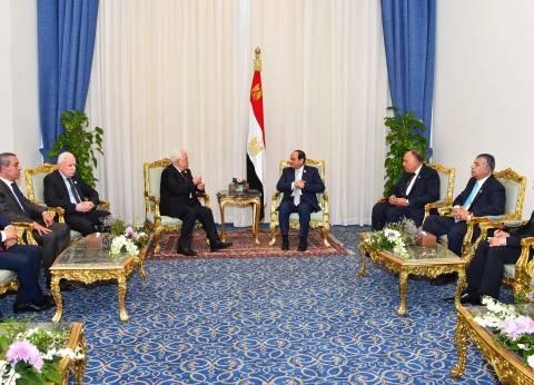 """السيسي و""""أبومازن"""" يبحثان تطورات القضية الفلسطينية في شرم الشيخ"""