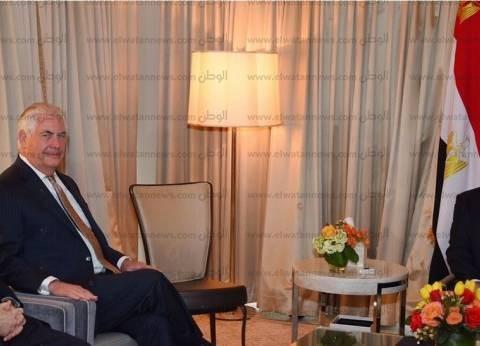 عاجل| تفاصيل لقاء السيسي مع وزير الخارجية الأمريكي في واشنطن