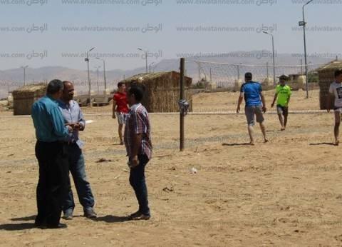 بالصور| تشكيل فريق عمل لاستقبال المواطنين بشاطئ أبورديس في شم النسيم