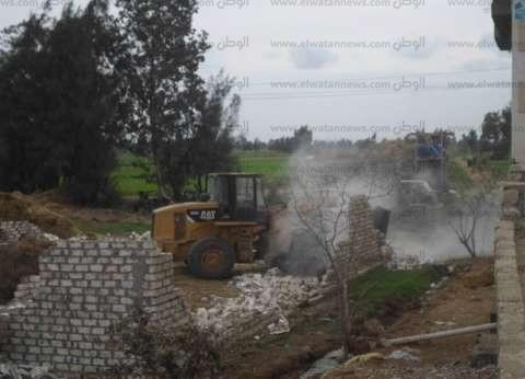 إزالة 21 حالة تعدً على أملاك الدولة والأراضي الزراعية في كفر الشيخ