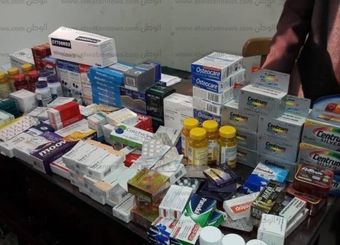 ضبط أدوية محظور تداولها داخل مخزن أدوية خاص بصيدلية في بني سويف