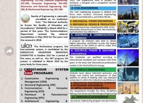 بالصور  تفاصيل نظام الساعات المعتمدة بكلية الهندسة جامعة القاهرة