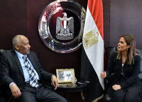 """""""نصر"""" تبحث مع وزير التعاون الدولي السوداني التنسيق بين البلدين"""