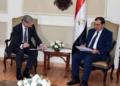 """وزير البترول يبحث مع وفد """"دانا"""" إنتاج الغاز الطبيعي بدلتا النيل"""