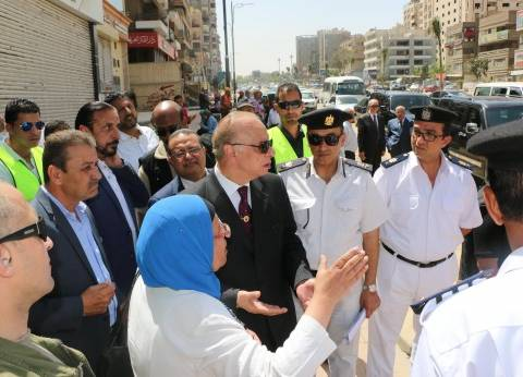 بالصور| محافظ القاهرة يتفقد أعمال تطوير ميدان سراي القبة