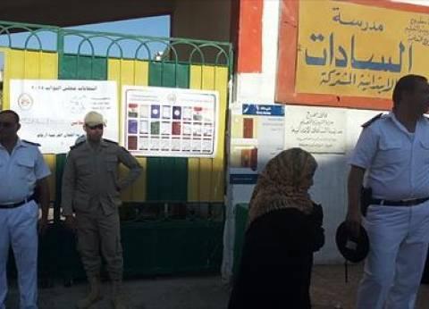 انتشار قوات الجيش والشرطة أعلى المباني بمحيط اللجان الانتخابية في مطروح