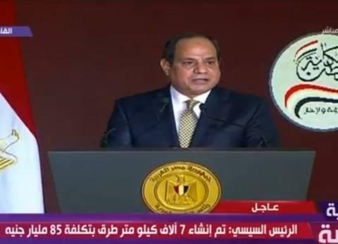 السيسي: خسائر بعض الدول العربية وصلت إلى 900 مليار دولار بسبب الإرهاب