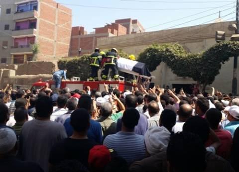 الآلاف يشيعون شهداء هجوم العريش فى جنازات مهيبة بدعوات «النصر على الإرهاب»