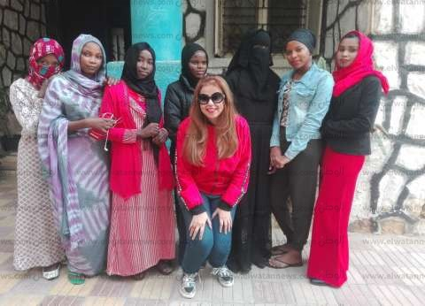 بالصور  شمس تشاد تشرق في مصر بدراسة 30 فتاة داخل جامعة قناة السويس