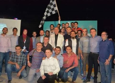 ختام سباق السيارات الكهربائية الهجينة بالبحر الأحمر بفوز جامعة عين شمس