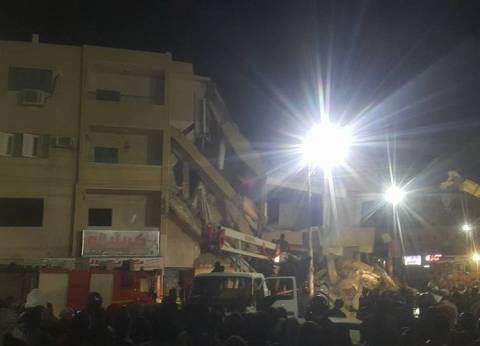 مصرع شاب وإصابة 3 في انهيار عقار وسط الإسكندرية