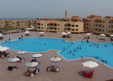 إقبال كبير على قرية المرجان السياحية في ثانى أيام العيد ببورسعيد