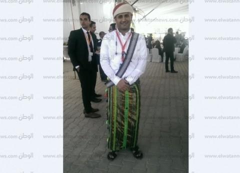 """""""جعفر"""" بملابس أفراح يمنية في ملتقى أسوان: """"عشان الكل يعرف تراثنا"""""""
