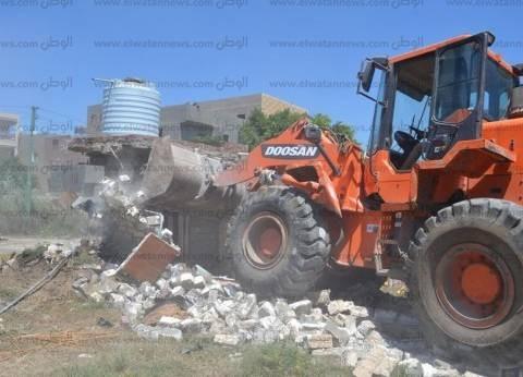 تنفيذ 16 إزالة على أملاك الدولة والأراضي الزراعية في بلطيم