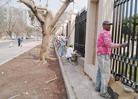 بالصور| تطوير محيط استاد القاهرة ضمن استعدادات أمم أفريقيا