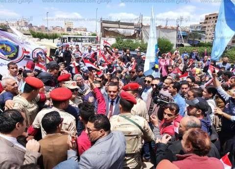 مسيرة حاشدة لمواطني وطلاب البحيرة دعما لتعديل الدستور