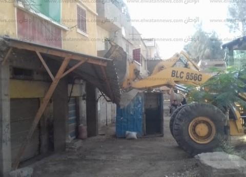 بالصور| حملة لإزالة التعديات بشوارع بيلا في كفر الشيخ