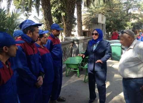 بالصور| نائب محافظ القاهرة تتفقد منظومة النظافة الجديدة في طرة