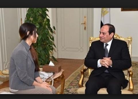 """بالفيديو  """"الرئيس الإنسان"""".. السيسي ينتصرلنادية مراد ضد إرهاب """"داعش"""""""