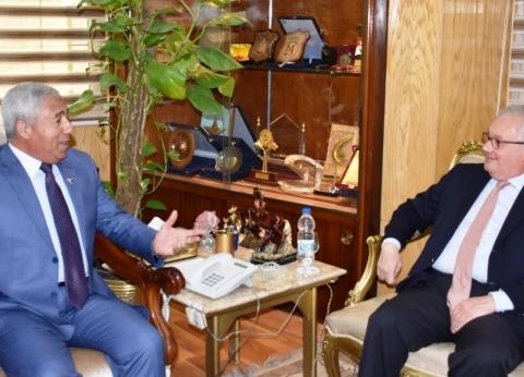 محافظ أسوان يستقبل السفير الإيطالى ويؤكد على متانة وعمق العلاقات