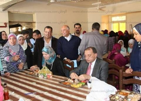 رئيس جامعة بني سويف يطمئن على خدمة طالبات المدينة الجامعية