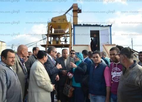 بالصور| محافظ كفر الشيخ: إنشاء محطة الخلط الأسفلتية بـ2.5 مليون جنيه