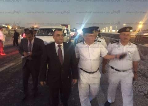 """مساعد وزير الداخلية لغرب الدلتا يفاجئ الخدمات الأمنية على """"الصحراوي"""""""