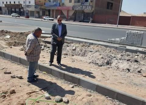 محافظ البحر الأحمر يتفقد أعمال التطوير بالممشى السياحي بطريق النصر