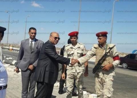 مدير أمن مطروح يتفقد التمركزات الأمنية ويهنئ جنود القوات المسلحة بانتصارات أكتوبر