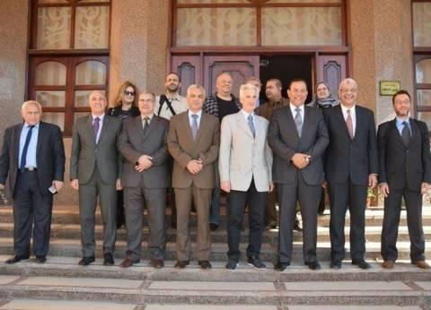 وفد جامعة بيروس اليونانية يزور جامعة المنوفية لبحث سبل التعاون