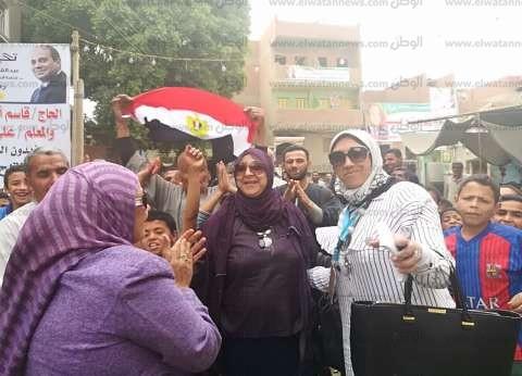 """مسيرة نسائية حاشدة بقيادة """"قومي المرأة"""" للحث على الانتخابات ببني سويف"""