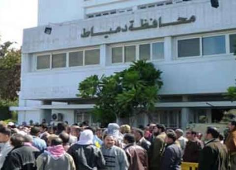 شعبة البقالين بدمياط تشارك في وقفة احتجاجية أمام وزارة التموين