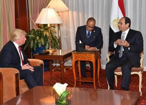 الرئيس فى «واشنطن» اليوم.. ويلتقى «ترامب» الاثنين