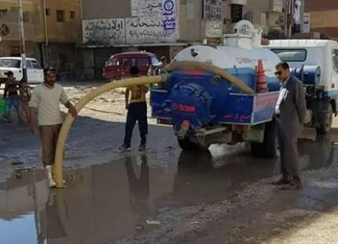 محافظ سوهاج يكلف بإصلاح كسر ماسورة مياه بدار السلام