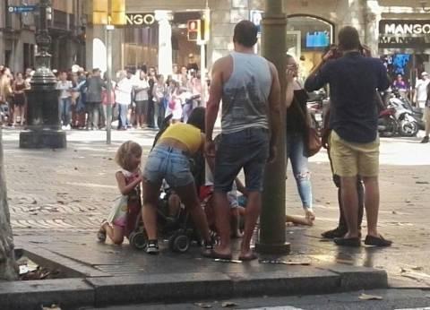 إصابة 20 في حادث دهس وسط برشلونة