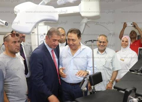 بالصور| وزير الصحة ومحافظ كفرالشيخ يتفقدان مستشفى البرلس المركزي