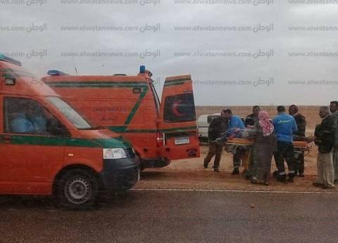 """""""الصحة"""": إصابة 10 مواطنين في حادث انقلاب أتوبيس بالفيوم"""