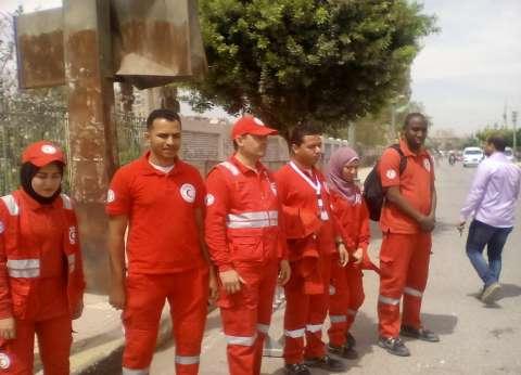 """""""الهلال الأحمر"""" يؤمن اللجان الانتخابية بالمنيا لتقديم الإسعافات الطبية"""