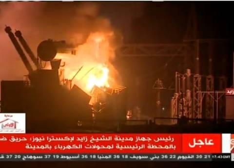 شاهدة عيان: حريق محطة الشيخ زايد التهم دورا كاملا بعمارة مجاورة
