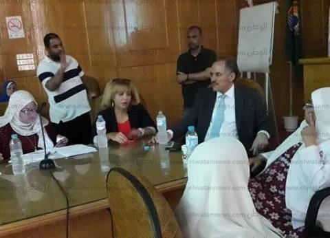 """""""صحة الإسماعيلية"""" تناقش خطة تحسين الأداء للمشروع الفرنسي في أبو صوير"""