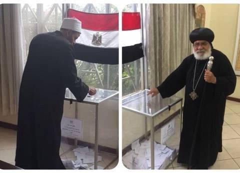 بالصور| حصاد اليوم الثاني لانتخابات المصريين في 4 دول إفريقية