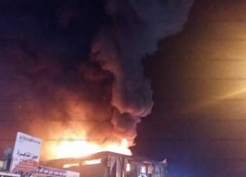"""""""أون تي في"""": حريق هائل في مصنع إطارات سيارات بشبرا الخيمة"""