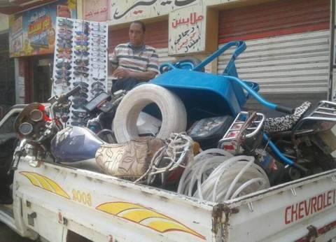 حي وسط الإسكندرية يشن حملة مكبرة لإزالة الإشغالات في الشوارع التراثية