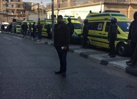 بالفيديو| قوات الأمن تنتشر بالكاتدرائية عقب الانفجار