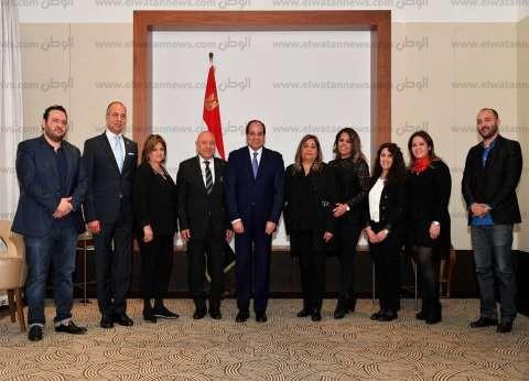 بالصور| الرئيس يلتقي عددا من أبناء الجالية المصرية في النمسا
